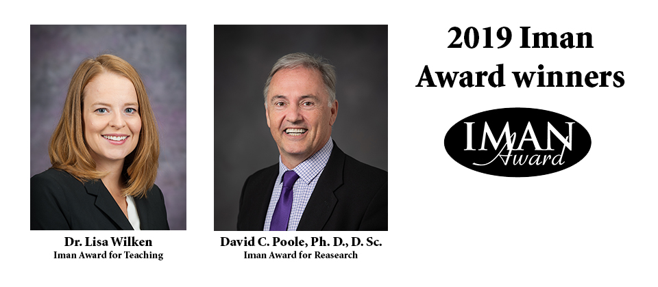 Two K-State faculty receive $5,000 Iman Awards for research and teaching