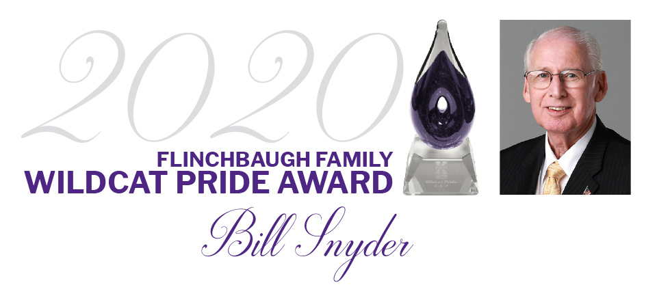 Bill Snyder recipient of Alumni Association's 2020 Flinchbaugh Family Wildcat Pride Award