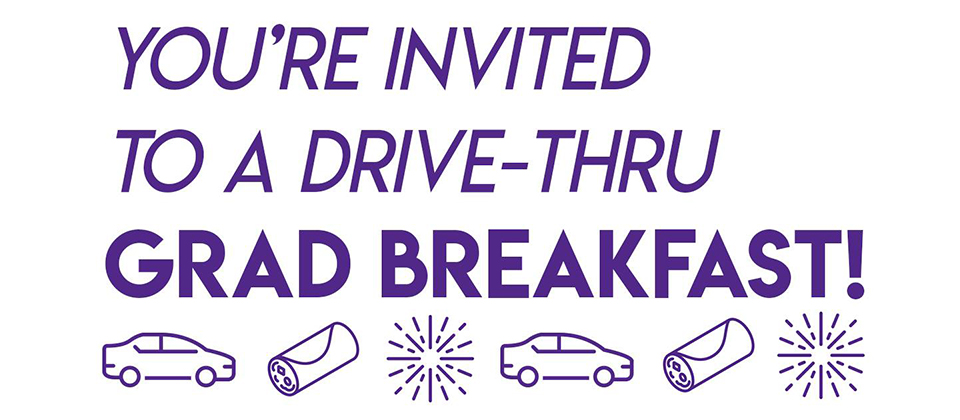 Alumni Association to host a drive-thru Grad Breakfast for fall graduates
