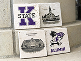 K-State Stone Coasters