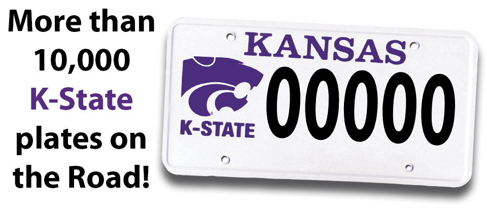 k-state license plate program reaches more than 10,000 plates on the
