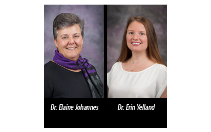 Elaine Johannes and Erin Yelland